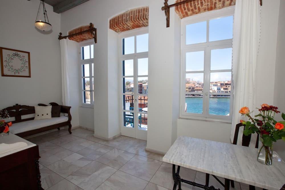 Habitación superior, vista al mar - Sala de estar