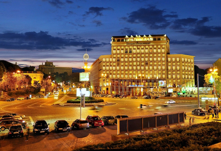 Hotel Dnipro, Kyiv, Voorkant hotel
