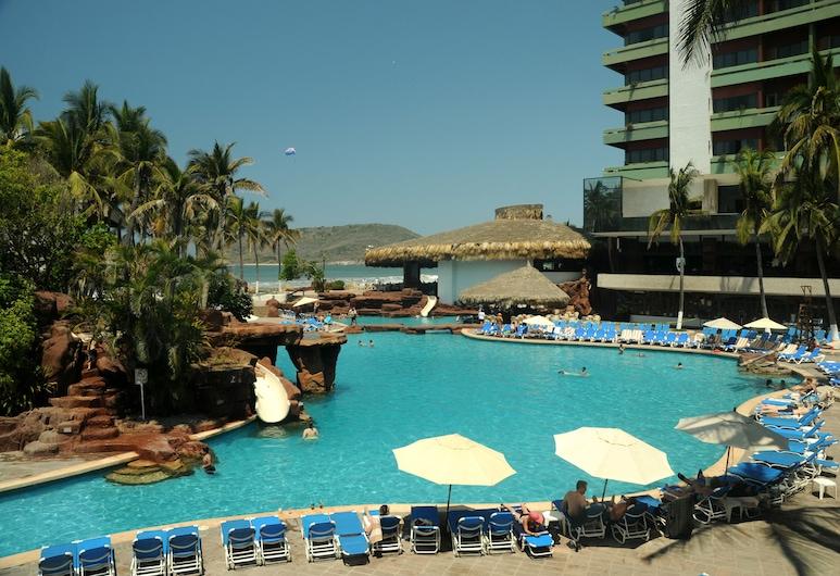 El Cid El Moro Beach Hotel, Mazatlan, Utendørsbasseng