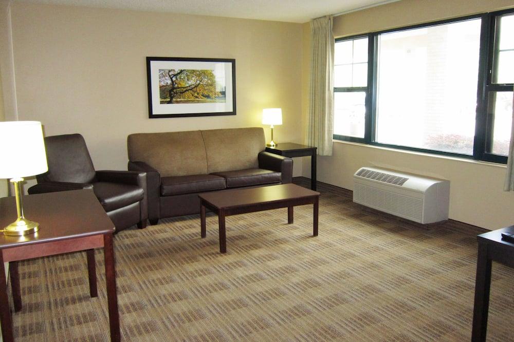 Štúdio typu Deluxe, 1 extra veľké dvojlôžko s rozkladacou sedačkou, nefajčiarska izba - Obývacie priestory