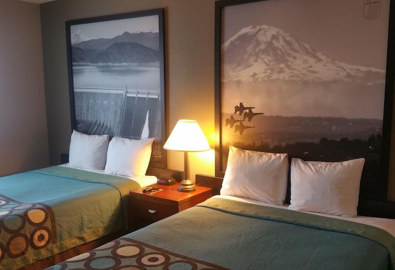 北沙加緬度溫德姆速 8 飯店, 薩克拉門多, 雙人房, 2 張標準雙人床, 冰箱, 客房景觀
