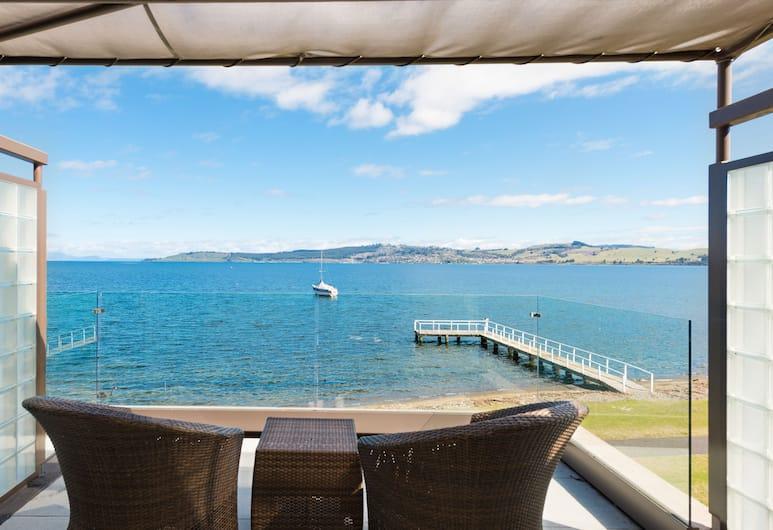 Millennium Resort Manuels, Taupo, Superior-Doppelzimmer, 2Doppelbetten, Ausblick vom Zimmer