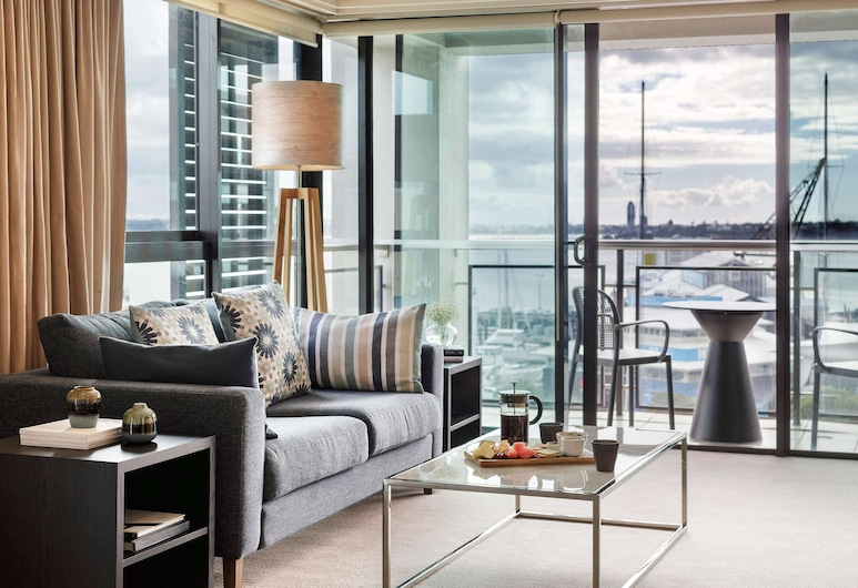 The Sebel Auckland Viaduct Harbour, Auckland, Suite – deluxe, 1 soverom, utsikt (Marina), Rom