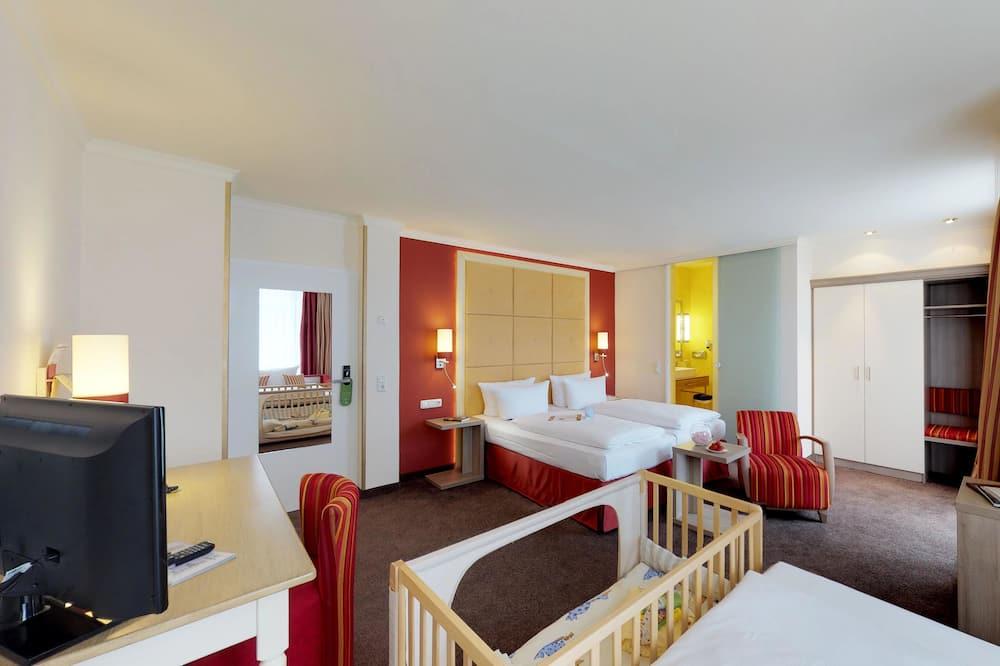 Premium-Doppel- oder -Zweibettzimmer, 1 Doppelbett - Wohnbereich