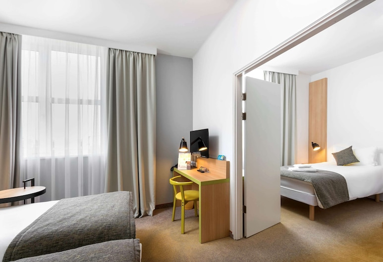 ibis Styles Budapest City, Budapest, Chambre Familiale, plusieurs lits, Chambre