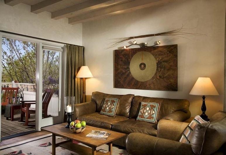 Las Palomas, Santa Fė, Pagerinto tipo kambarys, židinys, Svetainės zona