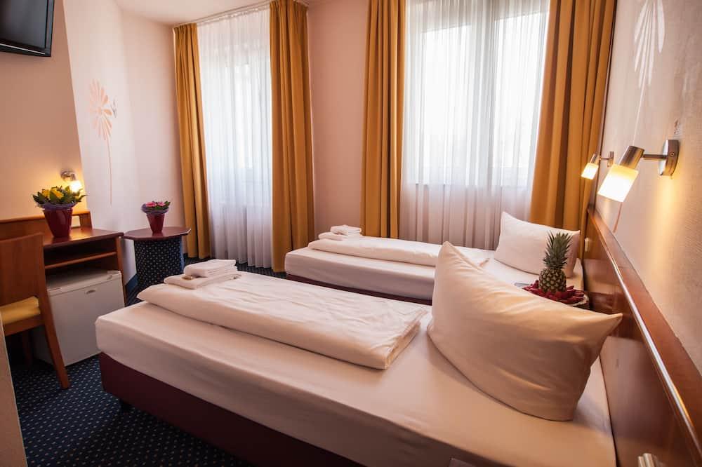 Dvivietis kambarys (2 viengulės lovos) su patogumais - Svečių kambarys