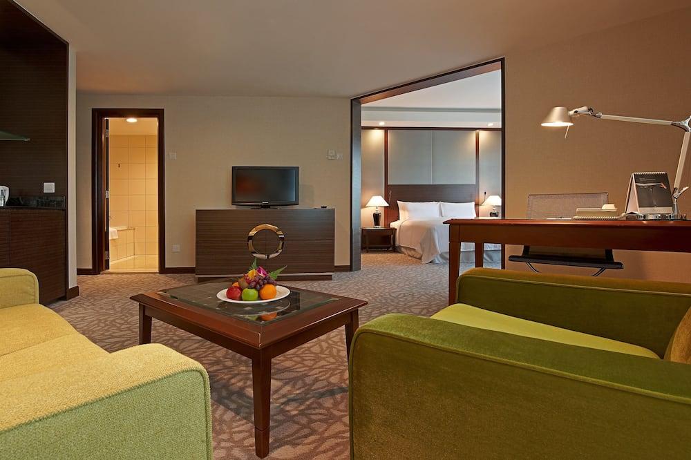 Представительский номер, 1 двуспальная кровать «Кинг-сайз», для людей с ограниченными возможностями - Зона гостиной