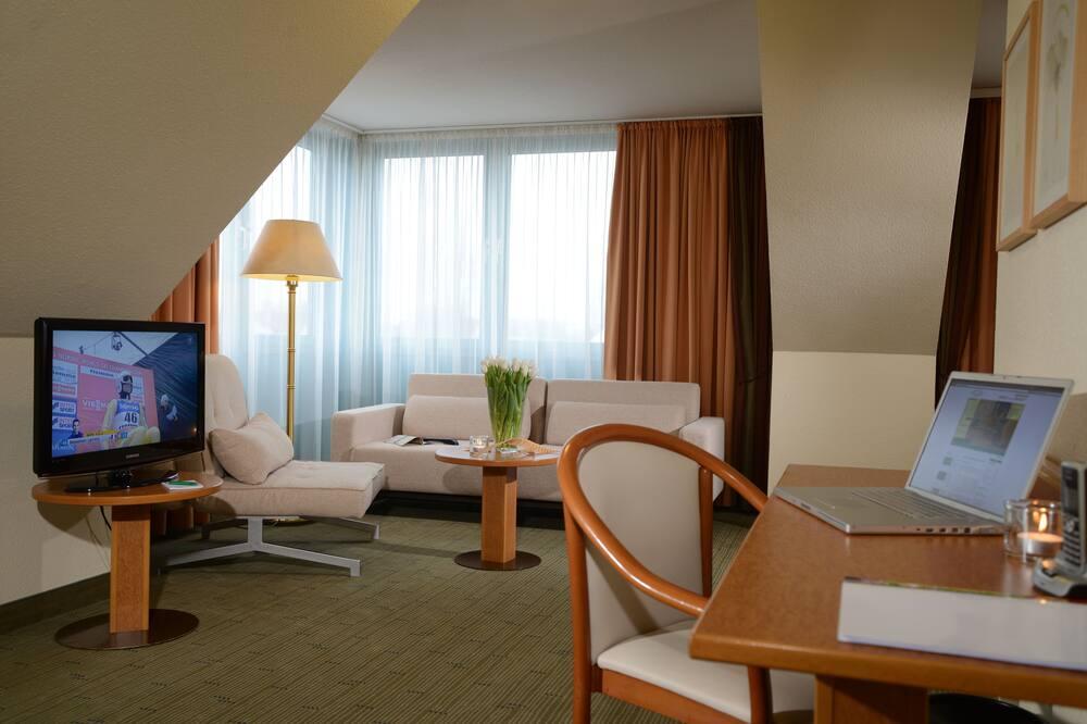 Quad Room with 2 Double Beds - Зона гостиной