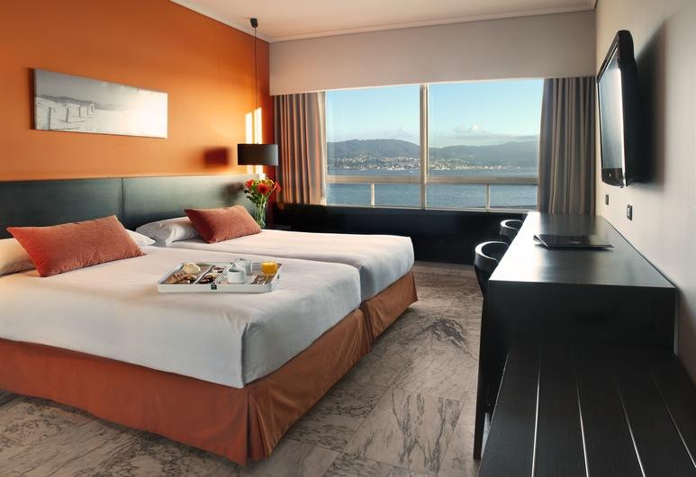 Hotel Sercotel Bahía de Vigo, Vigo, Dobbeltværelse med dobbeltseng eller 2 enkeltsenge - havudsigt, Værelse