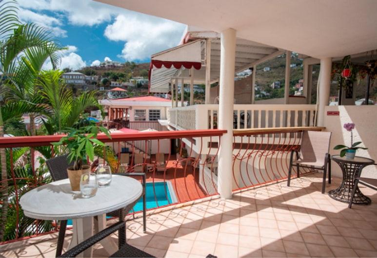 Bunker Hill Hotel, St. Thomas, Habitación superior, 1 cama King size, balcón, vista al puerto, Vista de la habitación