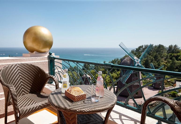 濟州樂天飯店, 西歸浦, Deluxe Terrace Ocean Double Room, 陽台景觀