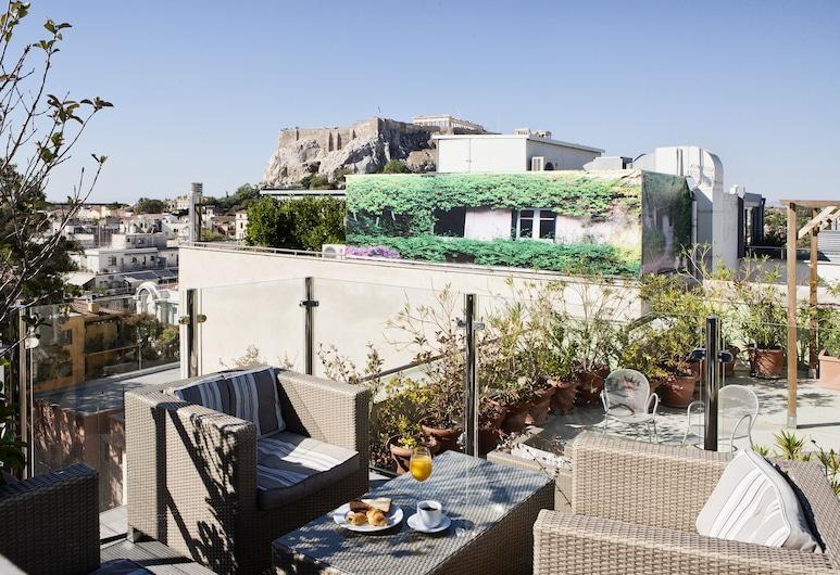 Hermes Hotel, Athén, Terasz/udvar