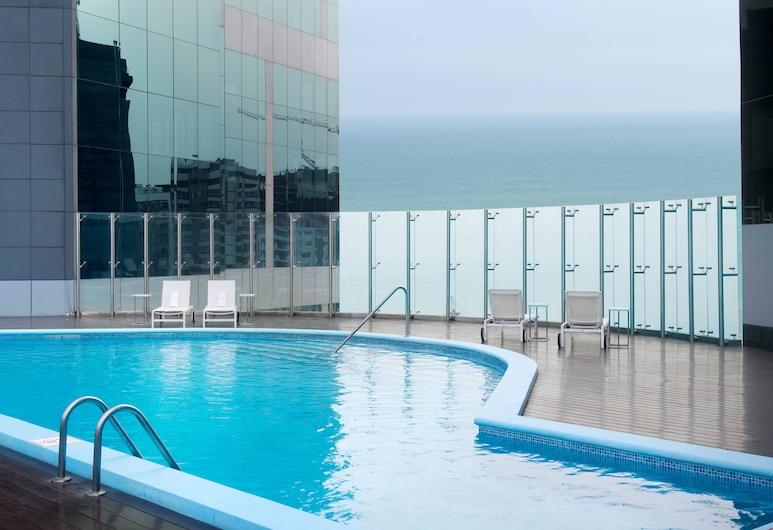 JW Marriott Hotel Lima, Lima, Kambarys verslo klientams, 1 labai didelė dvigulė lova, Nerūkantiesiems, vaizdas į vandenyną, Lauko baseinas