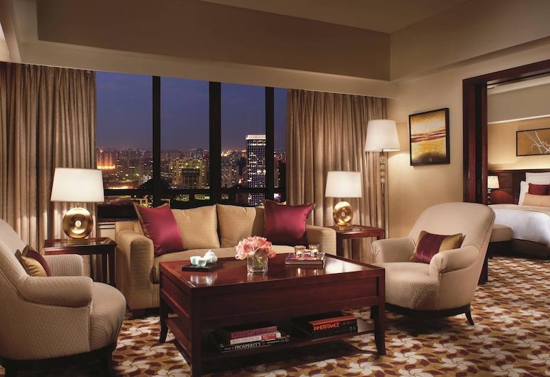 The Portman Ritz-Carlton, Shanghai, שנחאי, סוויטת קלאב, חדר שינה אחד, ללא עישון (Club level), חדר אורחים