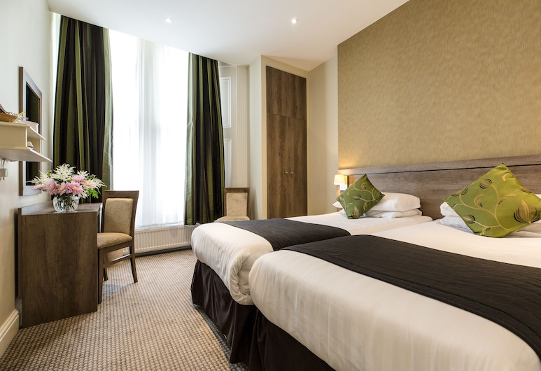 Kensington Gardens Hotel, London, Standard Twin Room, 2 Single Beds, Guest Room View