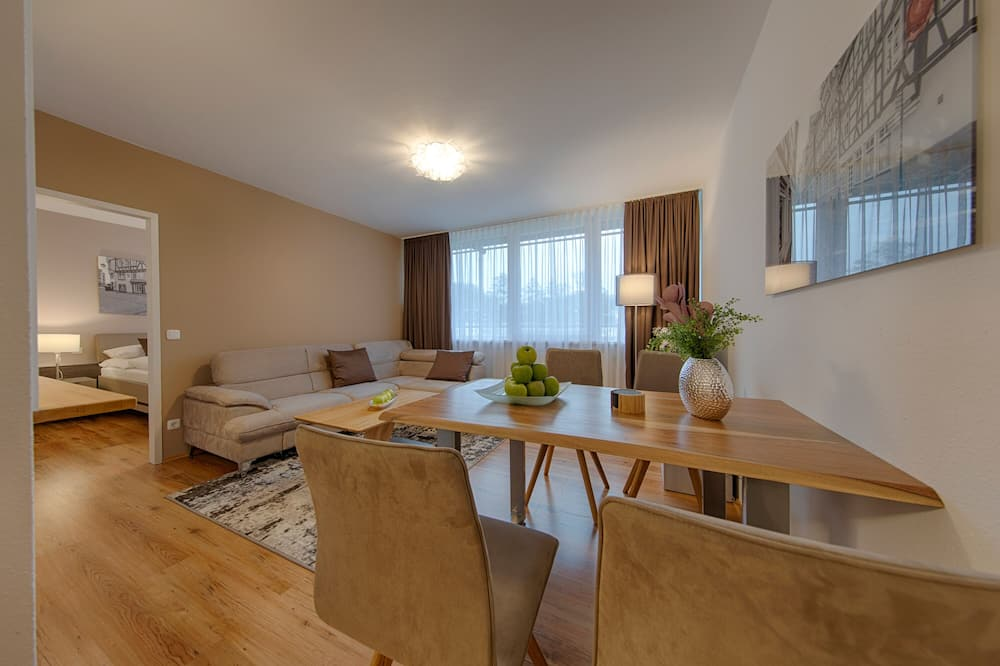 Executive Apartment, 1 Double Bed, Kitchen, River View (Living Room;with Sofabed) - Living Room