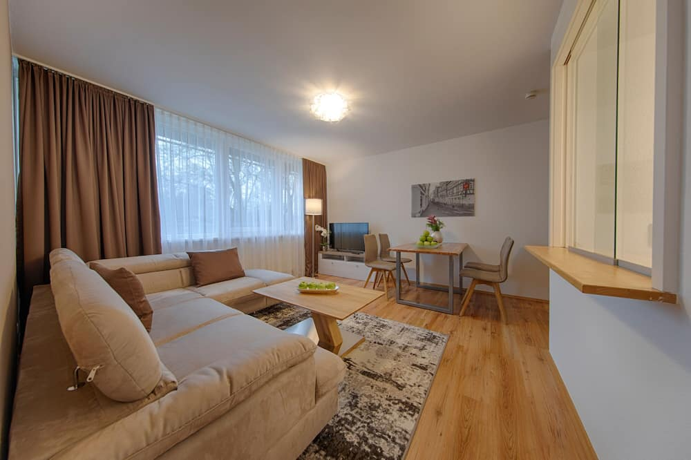 Executive Apartment, 1 Double Bed, Kitchen, River View (Living Room;with Sofabed) - Living Area