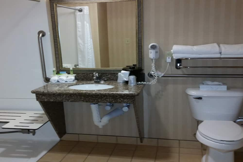 ห้องพัก, เตียงควีนไซส์ 2 เตียง, พร้อมสิ่งอำนวยความสะดวกสำหรับผู้พิการ (Mobil Rll Shwr) - ห้องน้ำ