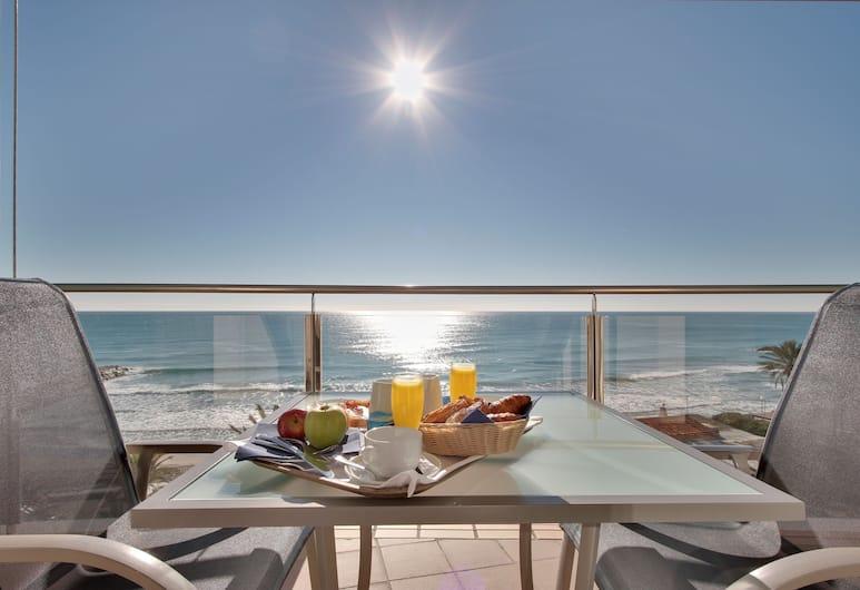 Hotel Calipolis, Sitges, Standardrum - terrass - viss havsutsikt, Balkong