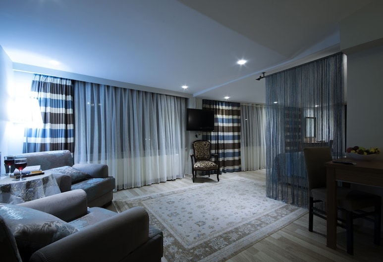 タシュコナック ホテル, イスタンブール, ペントハウス 2 ベッドルーム (with Sea View), リビング エリア