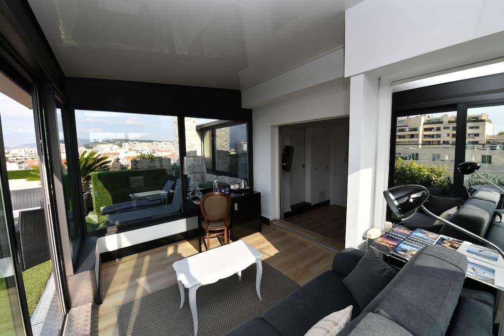 Penthouse avec Terrasse - Vardagsrum