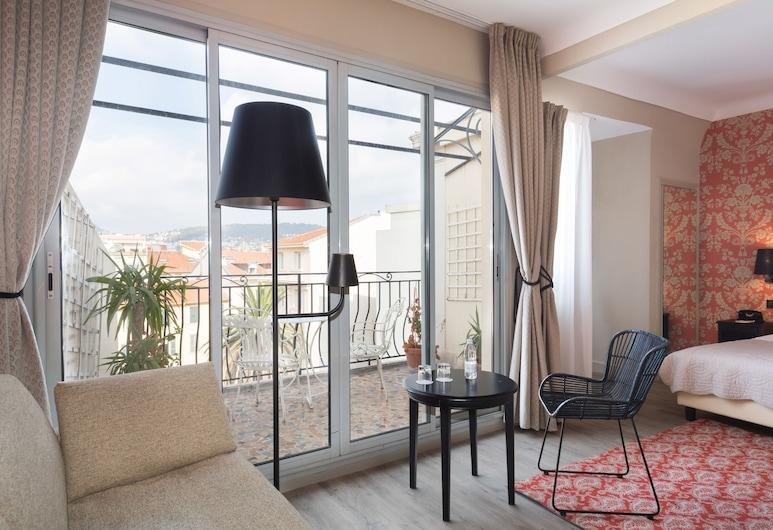 Hôtel Le Grimaldi by Happyculture, Nice, Suite Junior Familiale, Gästrum