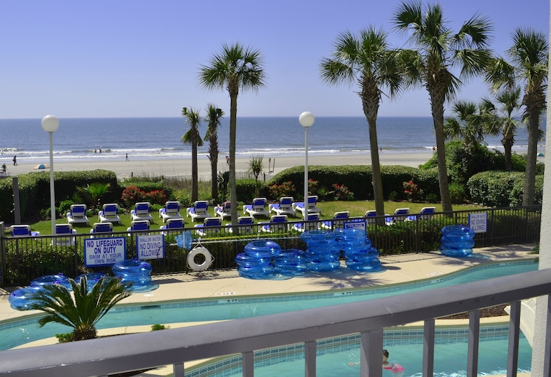 Grande Shores Ocean Resort, Myrtle Beach, Standardna soba, 2 queen size kreveta, čajna kuhinja, uz ocean, Pogled s balkona