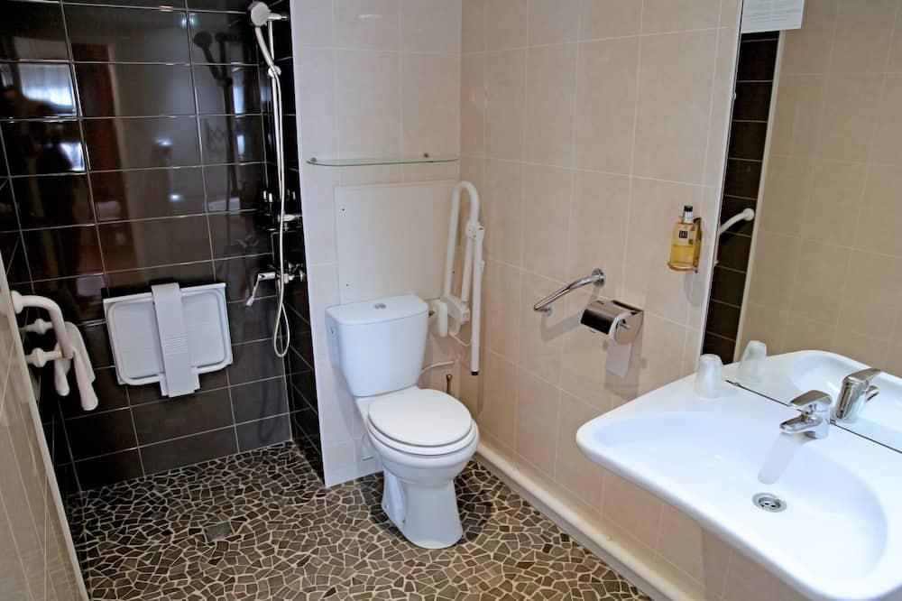 Chambre Simple Grand Confort, accès gratuit au sauna & hammam - Salle de bain