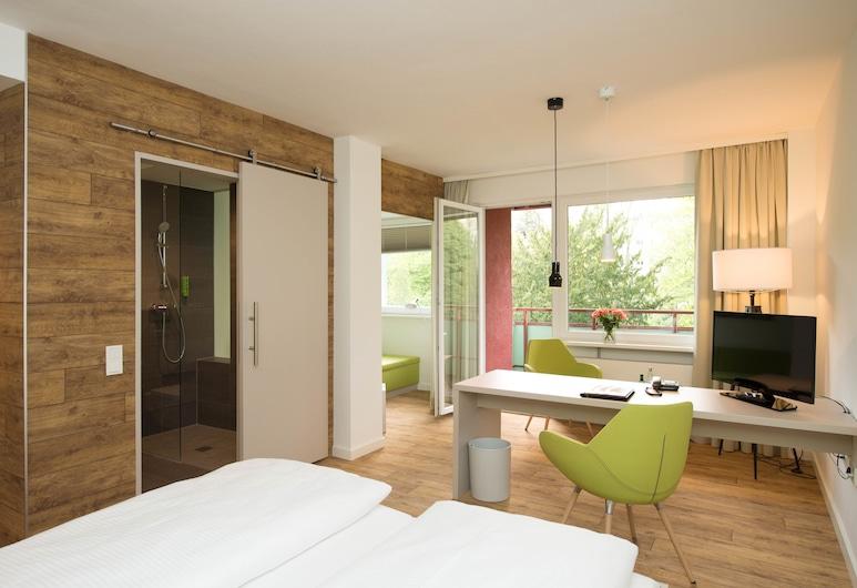 Hotel Carolinenhof, Berlin, Gartenzimmer Komfort Balkon (Doppelzimmer), Zimmer