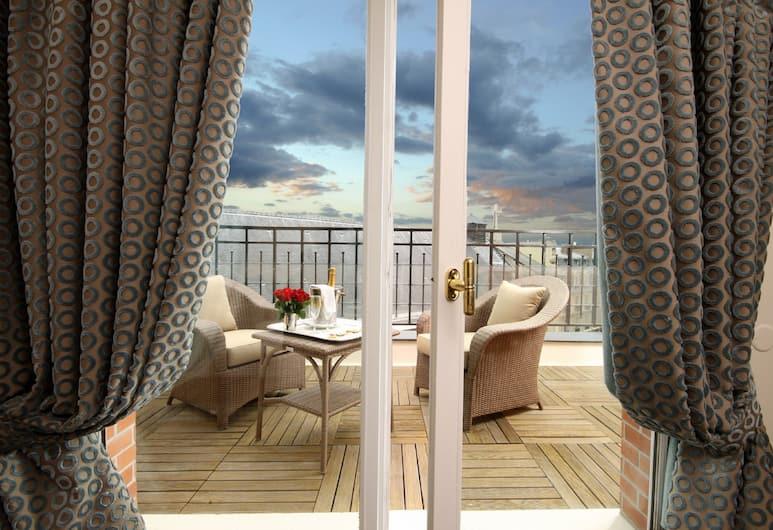 Hôtel Pont Royal, Pariis, Panoramic katusekorter, 1 magamistoaga, vaade siseõuele, Rõdu