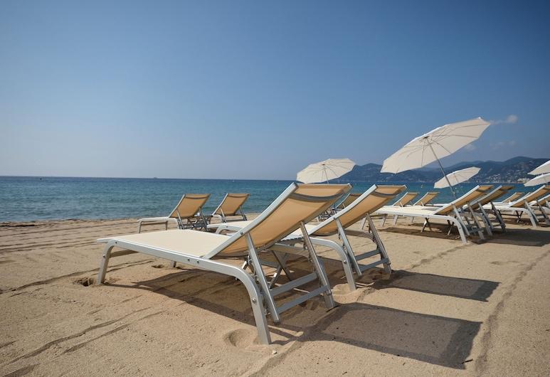 Hotel Renoir, Cannes, Strand