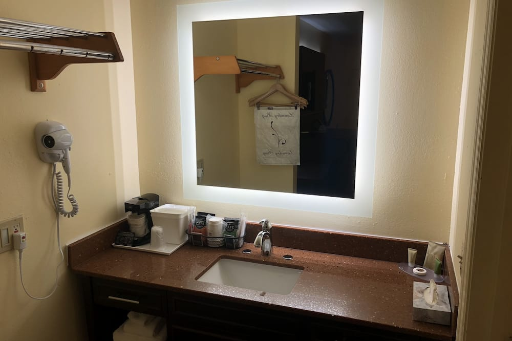Standard Room, 1 King Bed, Non Smoking, Refrigerator & Microwave - Bathroom Sink