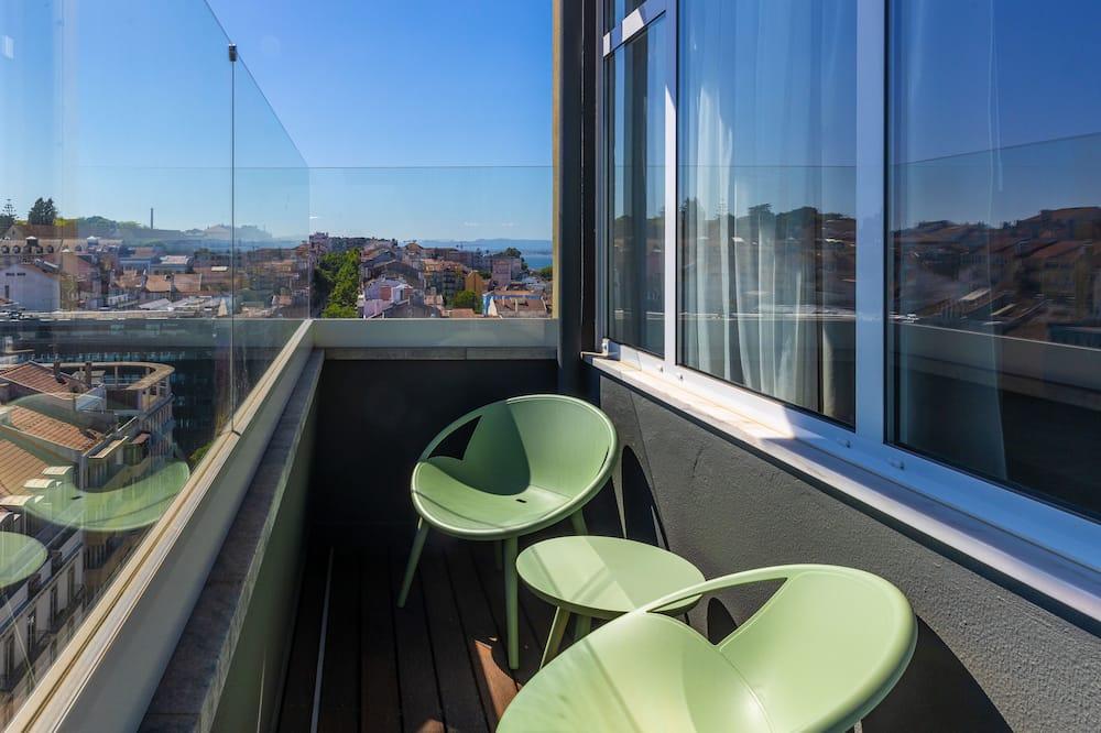 Chambre Double, 1 lit double, balcon, avec vue (Large) - Balcon