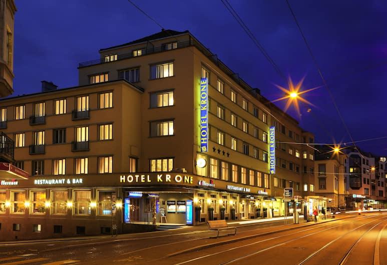 Hotel Krone Unterstrass, Zürich, Hotel Front – Evening/Night