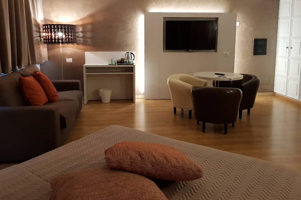 Juniorsvit - 1 queensize-säng - Vardagsrum