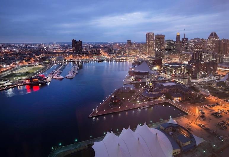 Baltimore Marriott Waterfront, Baltimore, Standarta numurs, 1 divguļamā karaļa gulta, skats uz ostu, Viesu numurs