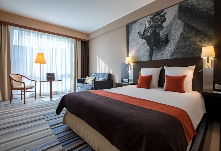Hotel Mercure Wroclaw Centrum, Breslau, Classic-Doppelzimmer, 1Doppelbett und Schlafsofa, Stadtblick, Zimmer