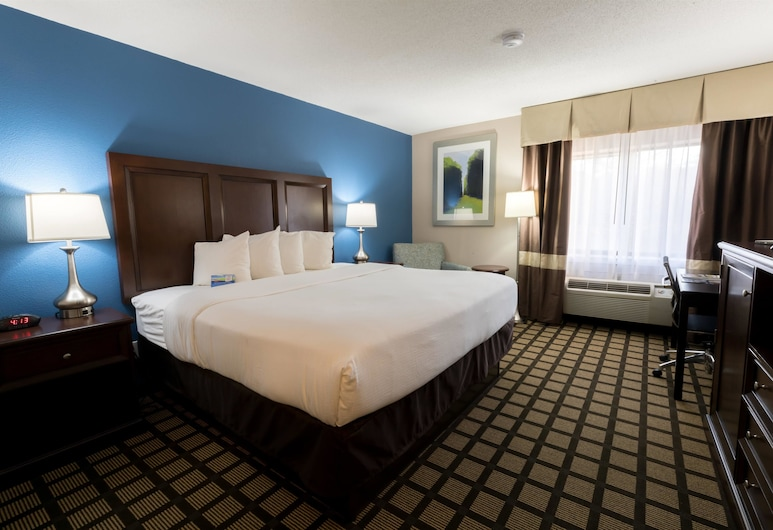 Baymont by Wyndham Detroit Airport/Romulus, Romulus, Business-Zimmer, 1 King-Bett, Zimmer