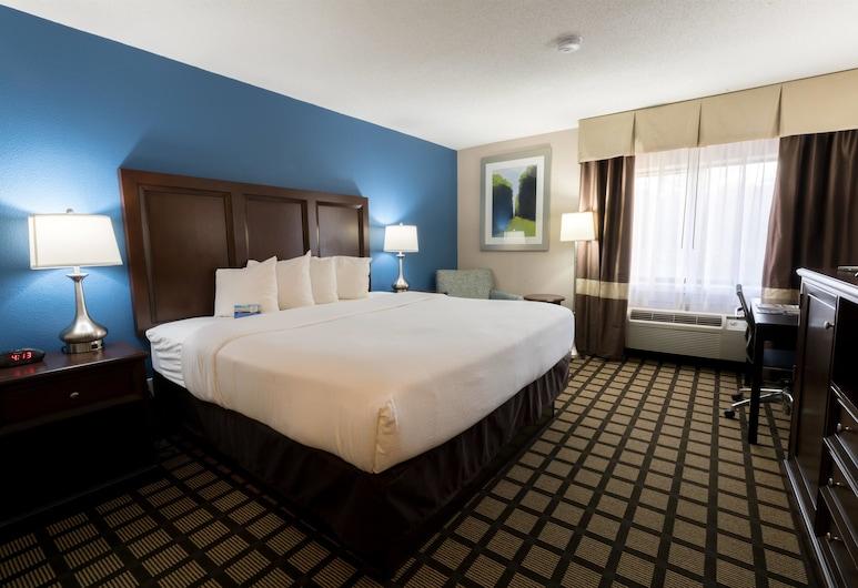 底特律機場羅穆魯斯溫德姆貝蒙特飯店, 羅穆盧斯, 商務客房, 1 張特大雙人床, 客房