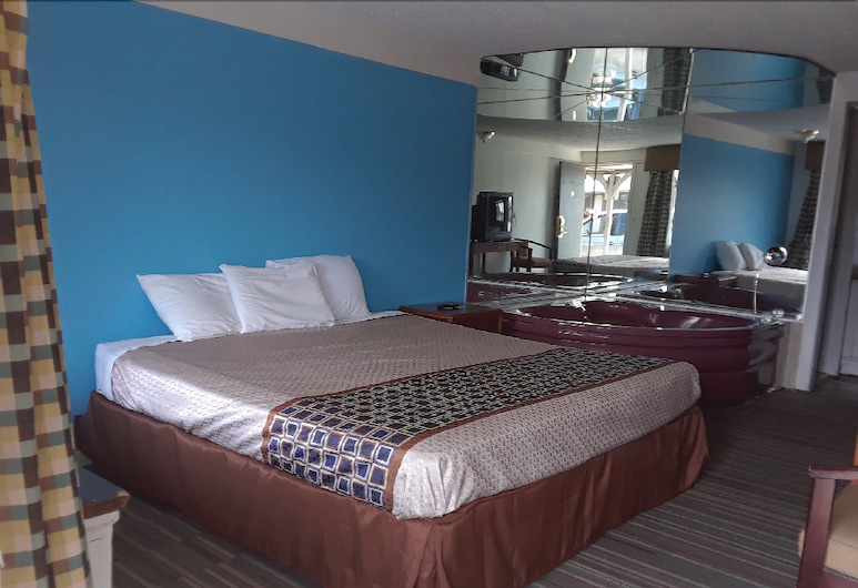 Knights Inn Indianapolis, Indianapolis, Classic-Doppel- oder -Zweibettzimmer, 1King-Bett, Whirlpool, Zimmer