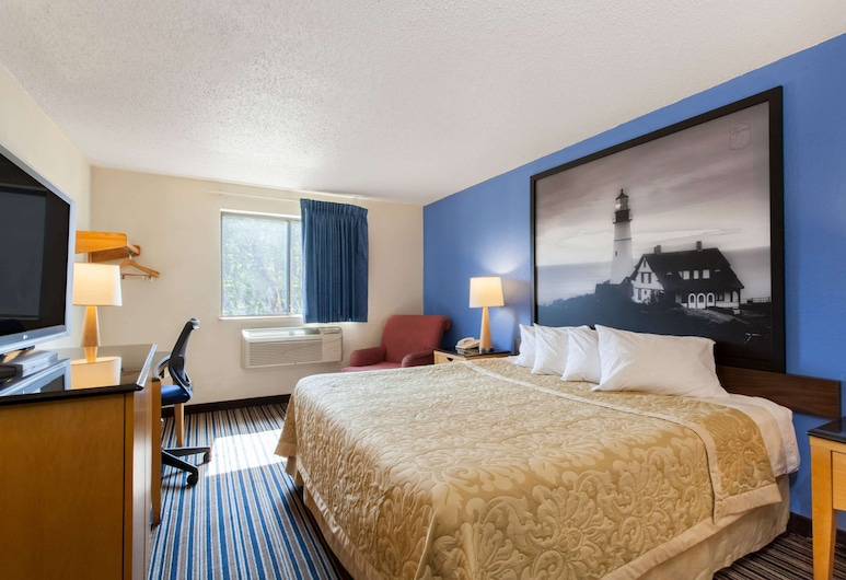 Super 8 by Wyndham Lewiston Auburn Area, Lewiston, Kambarys, 1 labai didelė dvigulė lova, su patogumais neįgaliesiems (Mobility Accessible), Svečių kambarys