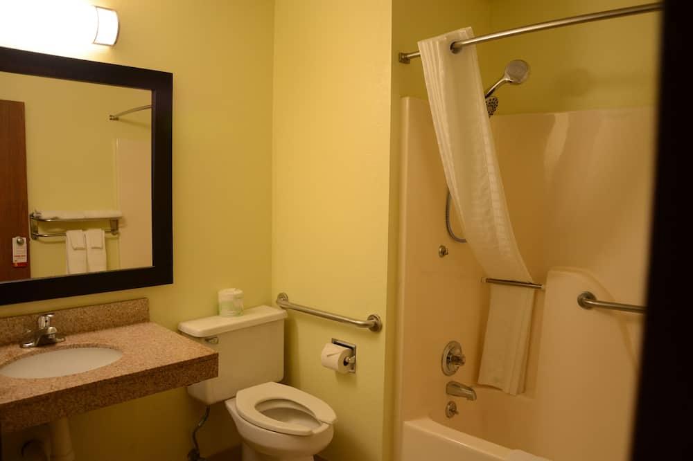 חדר, מיטת קווין, נגישות לנכים, ללא עישון (Mobility) - חדר רחצה