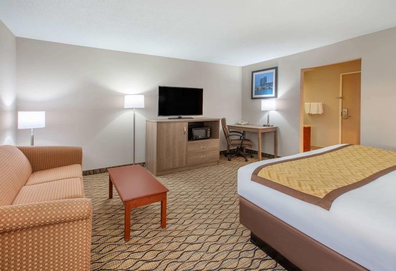大急流城機場溫德姆貝蒙特酒店, 大湍流市, 豪華開放式套房, 1 張特大雙人床及 1 張梳化床, 客房