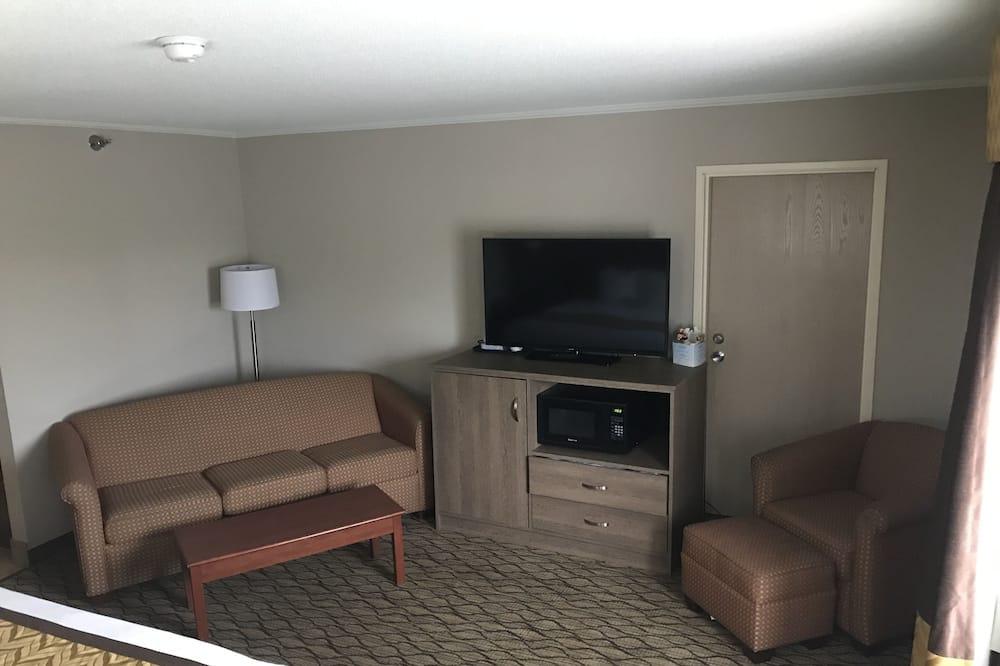 豪華開放式套房, 1 張特大雙人床及 1 張梳化床 - 客廳