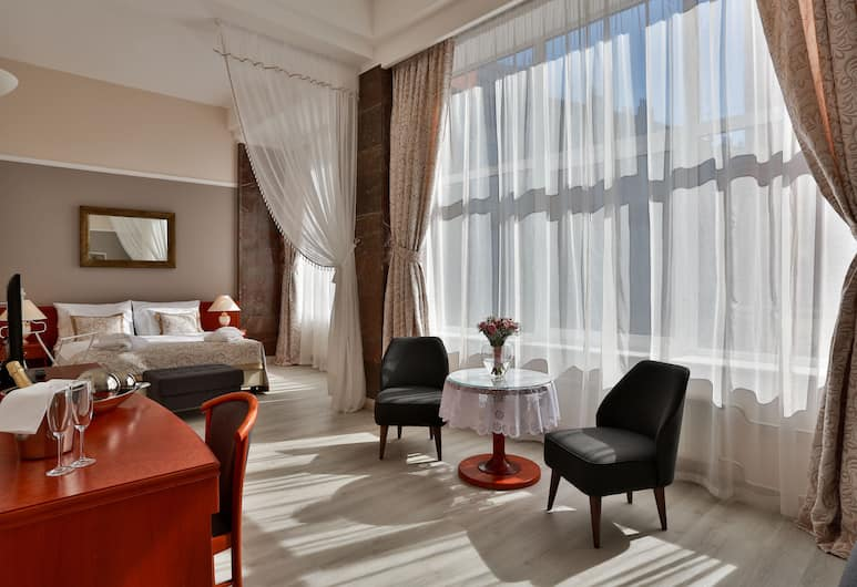 Hotel Belvedere, Prag, Junior-Suite, Ausblick vom Zimmer