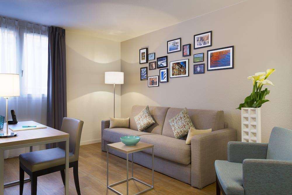 Căn hộ, 1 phòng ngủ - Phòng khách
