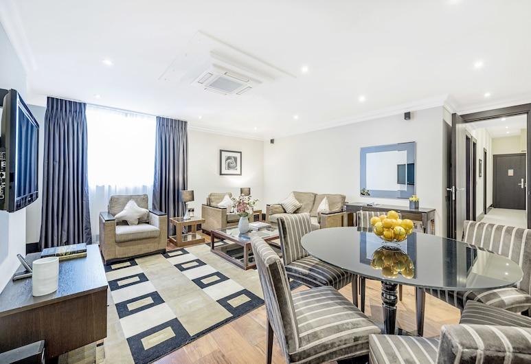 130 Queen's Gate Apartments, London, Superior-Apartment, 3Schlafzimmer, Wohnzimmer