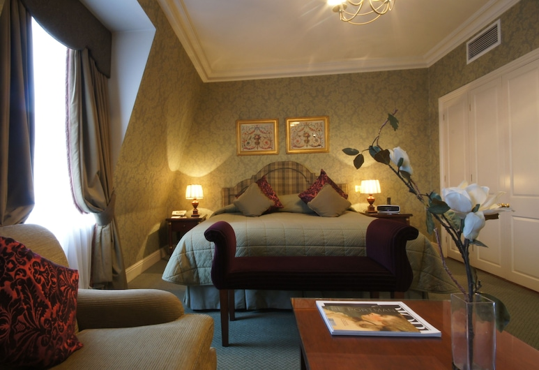 The Leonard Hotel, Londonas, Liukso klasės dvivietis kambarys, Svečių kambarys