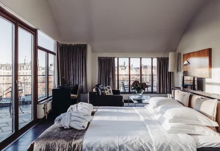 Berns Hotel, Stockholm, Dvojlôžková izba typu Deluxe, balkón, Hosťovská izba